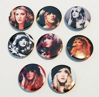 8 piece lot of Stevie Nicks pins buttons badges