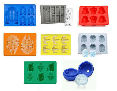 Star Wars Silicone Ice Cube Candy Jello Soap Trays Your Choice Any of 8 Styles
