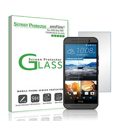 HTC One M9 amFilm Premium Real Tempered Glass Screen Protector (1 Pack)