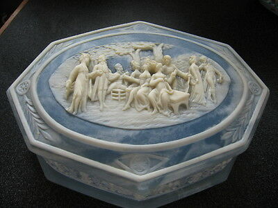 Incolay Stone Music / Jewelry Box - Blue - Greensleeves (What Child Is This?)