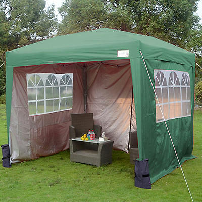 Black 3x3m pop up gazebo waterproof tent marquee heavy duty frame 4