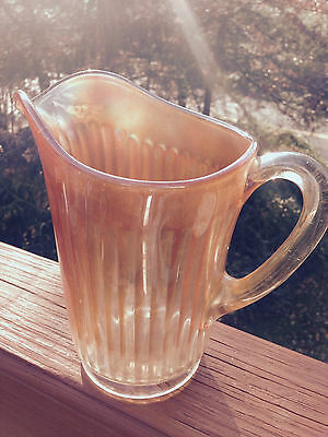 CARNIVAL GLASS PITCHER - MARIGOLD COLOR