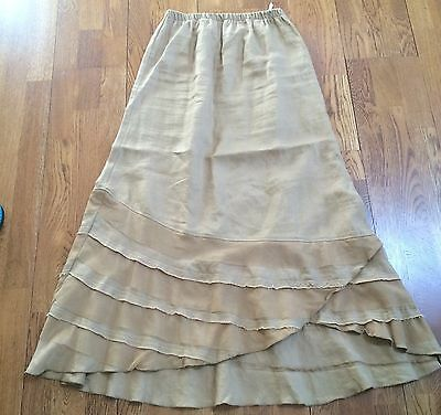 Gorgeous Linen Two Wishes Tiered Hem Skirt
