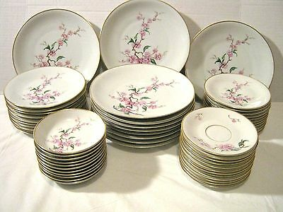 Heinrich Selb Blossomtime Bavarian Germany China 55 Piece Service for 10 Set VTG