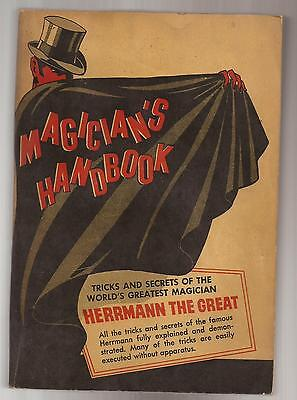 MAGICIAN'S HANDBOOK Tricks & Secrets of Herrmann The Great by H. J. Burlingame