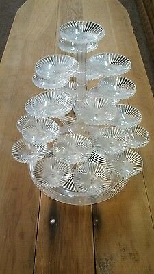 """Vintage Plastic """"Crystal"""" Tree Union Christmas and Holiday Candy holder Decor"""