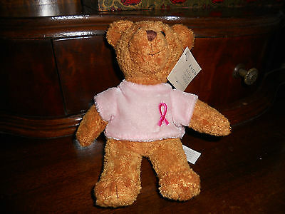 "2001 AVON BREAST CANCER CRUSADE  7"" BEANIE BEAR -TAG"