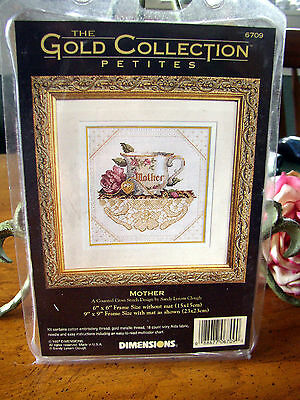 """DIMENSIONS GOLD COLLECTION PETITES """"MOTHER"""" #6709 COUNTED CROSS STITCH KIT (NEW)"""