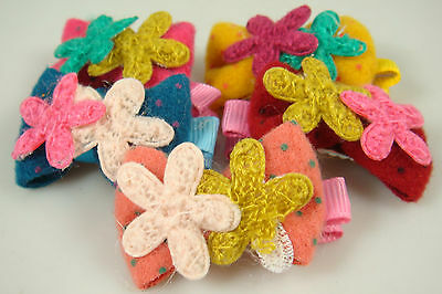 """Wholesale 5p girl baby toddler 5"""" boutique Hair Bow mixed ribbon with clips we0q"""
