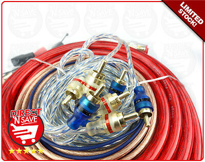 High Performance Car Audio 4 Gauge Power Wiring Kit for Sub RCA Amplifier A/Mast