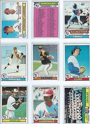 1979 Topps Baseball Cards. Lot of 50 Different. EX-NM.