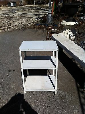 Vtg COSCO ROLLING CART / 3 Tier kitchen stand  mid century modern 50s utility