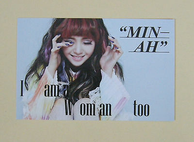 GIRL'S DAY MINAH I am a Woman too [ OFFICIAL ] PHOTO CARD type B / SNSD