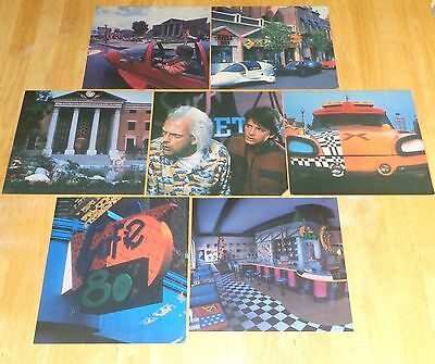 BACK TO THE FUTURE MOVIE POSTER WINDOW STICKER DECAL LOT SET PIZZA HUT 1989