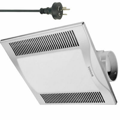 Silver 30cm Square 2in1 Ceiling Light/Exhaust Fan/Air flow/bathroom/laundry DIY