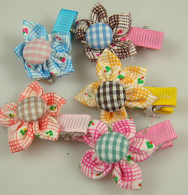 """Wholesale 5p girl baby toddler 2.5"""" boutique Hair Bow mixed ribbon with clips k9"""
