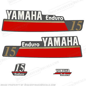 Yamaha 15hp Enduro Outboard Decal Kit - Reproduction Decals in Stock 15 motor