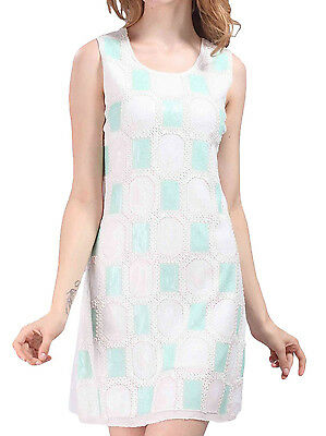 Women's Dress 1920s Style Dress Rope Weave Insert Sequins Party Dress FN1365