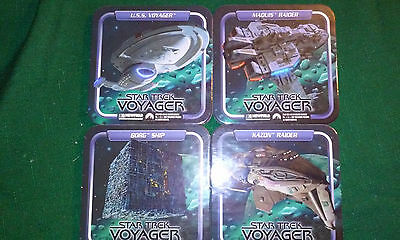 Complete Set of all 16 1997 Newfield Star Trek Spaceship Square Coasters (ST006)