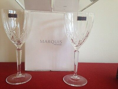 New In Box Waterford Crystal Marquis Wine Glasses - Set Of 2!