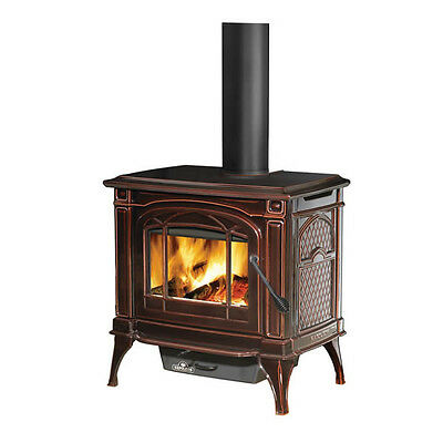 Napoleon 1400c Cast Iron Wood Burning Stove - Majolica Brown WITH BLOWER!!