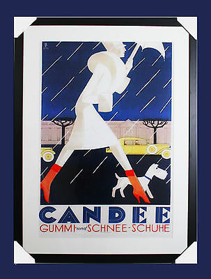 Vintage Art Deco Advertising Poster - Candee Boots