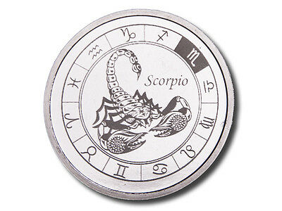 Zodiac Horoscope | Scorpio | 1 oz .999 Silver BU Round USA Made Bullion Coin