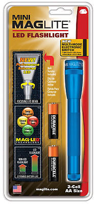 Mini Maglite 2 AA LED Next Generation Flashlight Blue SP2211H