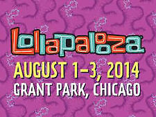 Lollapalooza 2015 Tickets Grant Park Chicago July 31-Aug 2  Two(2) 3 Day Passes