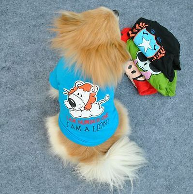 P05-188 Small Pet Dog Clothes T Shirt shirts Vest Type size M