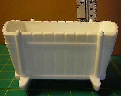 Milk Glass Baby Cradle Candy Condiment Dish / Box White Approx 5 x 3½ x 3½ inch