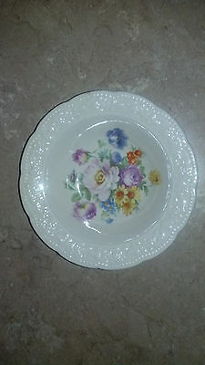 "Very Nice Floral Edwin Knowles China Co 5 3/8"" Dessert Fruit Bowl Saucer Dish"