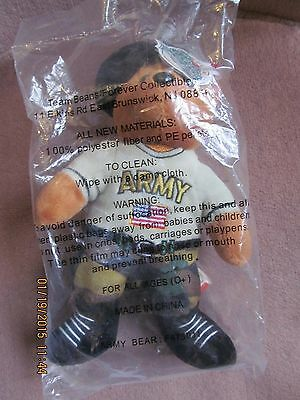 ARMY Team Bear Authentic AVON Team Bear Forever Collectibles F475011 Adorable!