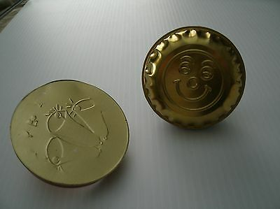 2 VINTAGE TIN NOISEMAKERS  NEW YEAR'S EVE