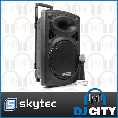 ST-090 Skytec 250Watts 12inch Portable PA USB SD media player rechargeable ba...