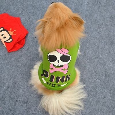 P03-266 Small Pet Dog Clothes T Shirt shirts Vest Type size L