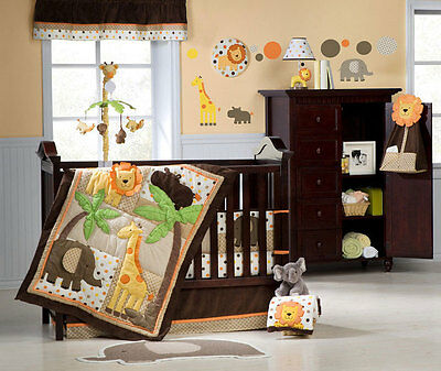 KidsLine Carters Sunny Safari 4 Pc Crib Set