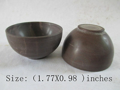 The ancient Chinese old jade polished by hand. A pair of bowl/free shipping
