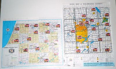 Vintage Kalamazoo County Michigan Elvis Stamps Post Office Location Collection