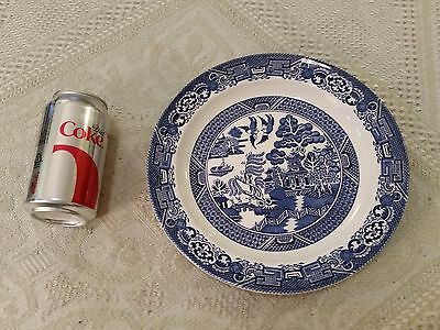 "Vintage WOODS WARE ENGLAND 10"" Plate Porcelain Blue & White WOODS & SON WILLOW"