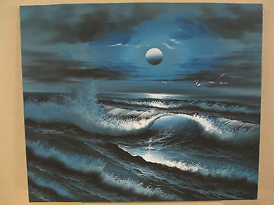 Beautifuly Painted Ocean View / Landscape Picture (24 inch long x 20 inch wide)