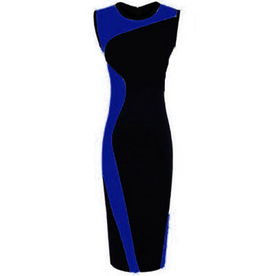 Sexy Women Bodycon Slim Sleeveless Pencil Dress Clubwear Evening Party Fashion
