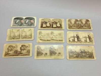 (9) Stereoview Cards, Japan, Hawaii, African American Lot 706