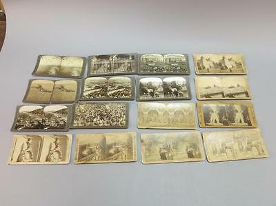 (16) Stereoview Cards, Woodrow Wilson, Galveston TX Lot 703