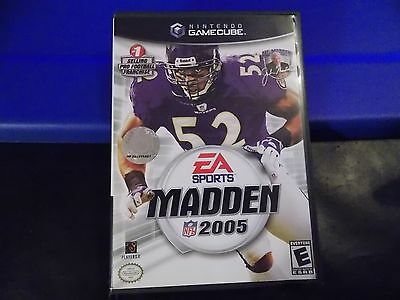 Madden NFL 2005  (Nintendo GameCube, 2004) COMPLETE GAME TESTED WORKS FOOTBALL