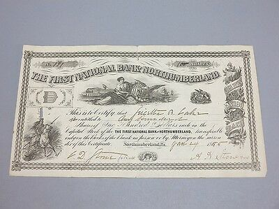 First National Bank of Northumberland Stock Certificate Lot 674