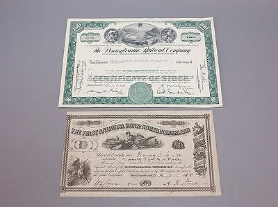 PRR & First National Bank of Northumberland PA Stock Lot 709