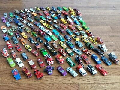 Huge lot of Misc Match Box Hot Wheels Tonka Die Cast Metal Cars 1970s - Now 125+