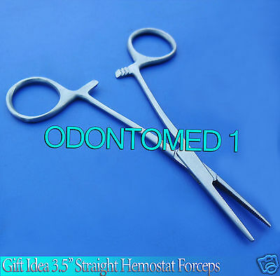 "Gift Idea 3.5"" Straigh Hemostat Hemos Forcep Locking Clamp Surgical Instruments"