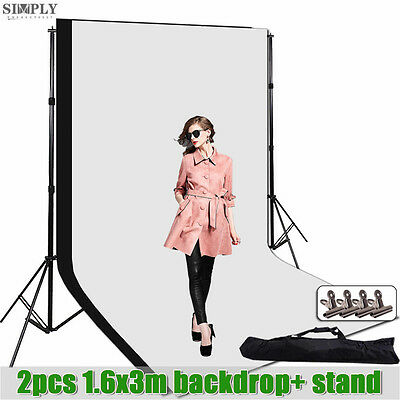 Photography Studio Background Support Video Lighting Backdrop Screen Stand Kit